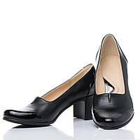 Туфли La Rose классические 2128 высокий каблук Черная кожа