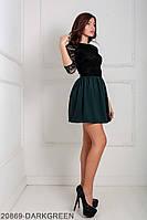 Жіноче плаття Подіум Gledis 20869-DARKGREEN XS Зелений
