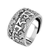 """Массивное серебряное кольцо (перстень) 14,92 грамма 925 пробы """"Life is life"""" с регулируемым размером, фото 1"""