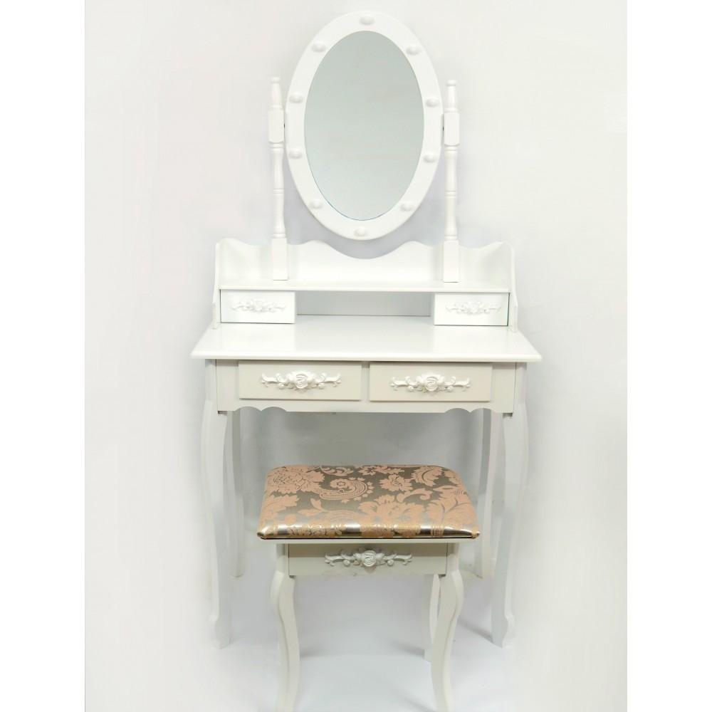 Стол косметический с зеркалом и стулом Bonro B002WL (косметичний стіл з дзеркалом і стільцем)