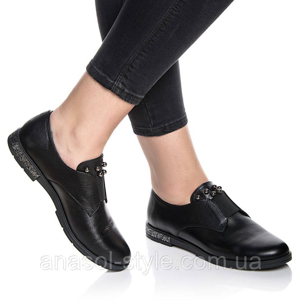 Туфли Rivadi 2223 36(24см) Черная кожа