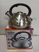 Чайник зі свистком Товарpeterhoff PH-15649 3 л., фото 1