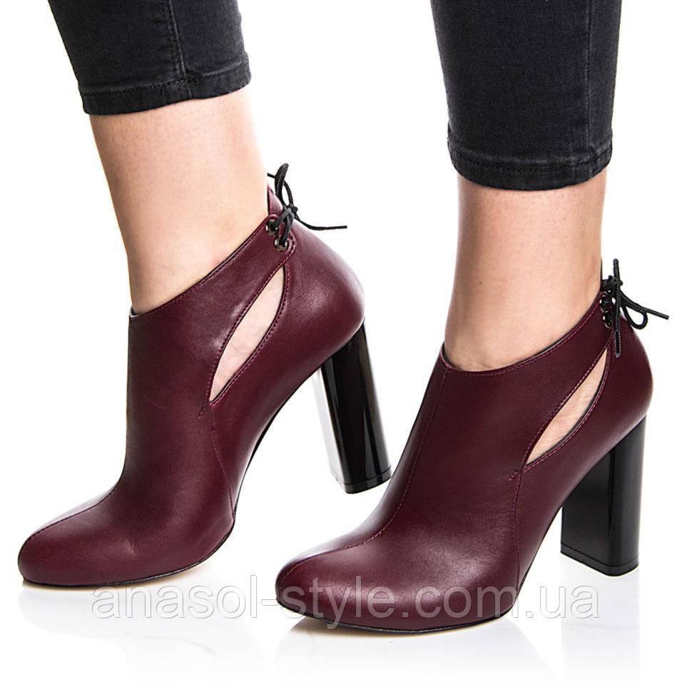 Туфли Rivadi 2229 36(24,2см) Бордовая кожа