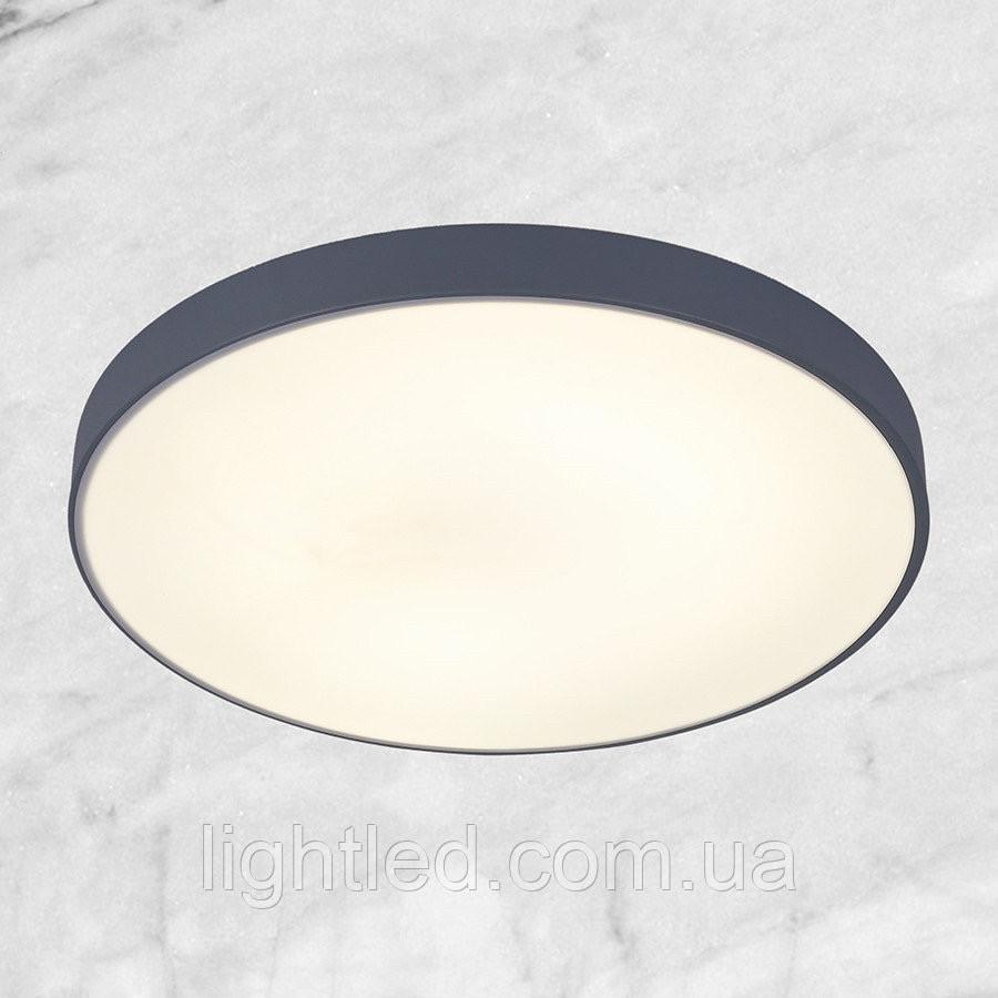 Светодиодная потолочная люстра с пультом (серая 40см)