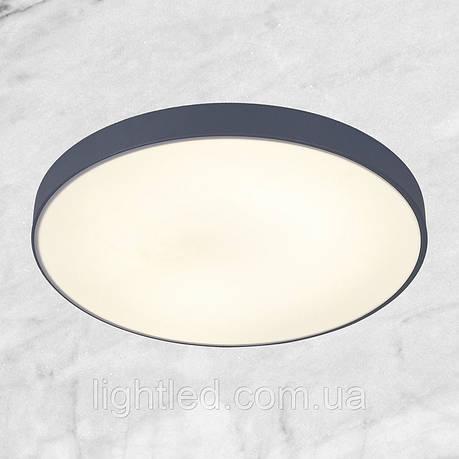 Светодиодная потолочная люстра с пультом (серая 40см), фото 2