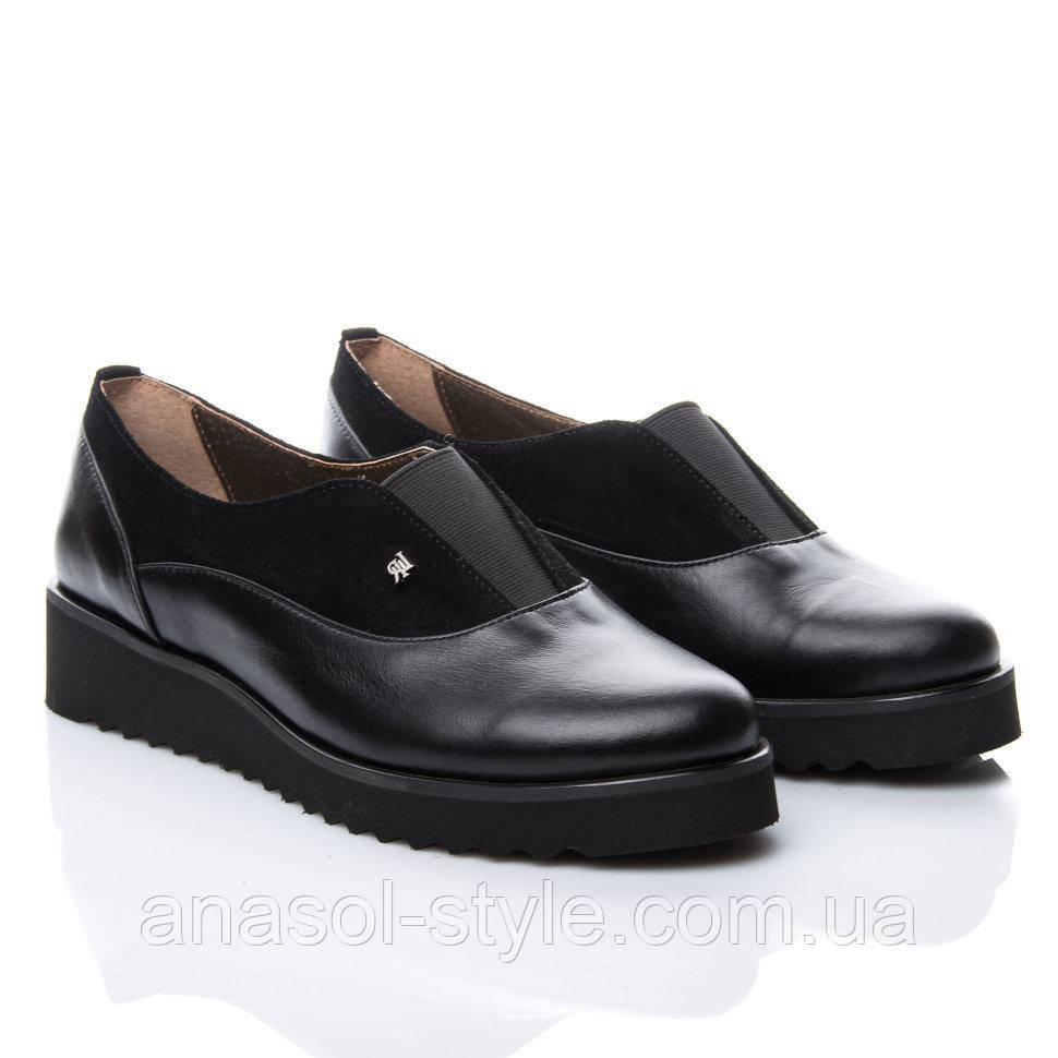 Туфли La Rose 915 36(24см) Черная кожа-замша