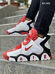 Мужские кроссовки Nike Air Barrage Mid (бело-красные) KS 1403, фото 2