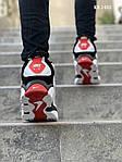 Мужские кроссовки Nike Air Barrage Mid (бело-красные) KS 1403, фото 3