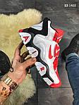 Мужские кроссовки Nike Air Barrage Mid (бело-красные) KS 1403, фото 4