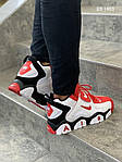 Мужские кроссовки Nike Air Barrage Mid (бело-красные) KS 1403, фото 5