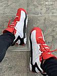 Мужские кроссовки Nike Air Barrage Mid (бело-красные) KS 1403, фото 6