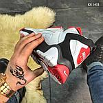 Мужские кроссовки Nike Air Barrage Mid (бело-красные) KS 1403, фото 8