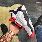 Мужские кроссовки Nike Air Barrage Mid (бело-красные) KS 1403, фото 9