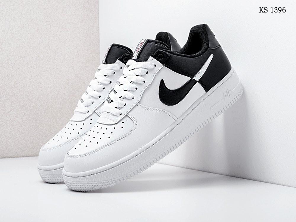 Мужские кроссовки Nike Air Force 1 Low NBA (черно-белые) KS 1396