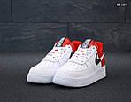 Мужские кроссовки Nike Air Force 1 Low NBA (красно-белые) KS 1397, фото 3