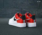 Мужские кроссовки Nike Air Force 1 Low NBA (красно-белые) KS 1397, фото 5