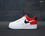 Мужские кроссовки Nike Air Force 1 Low NBA (красно-белые) KS 1397, фото 6