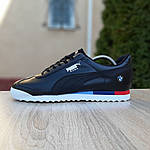 Чоловічі кросівки Puma Roma BMW (чорні) 10034, фото 6