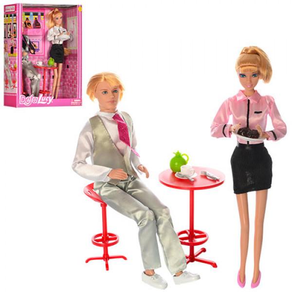Ляльки сімья DEFA з меблями, посудом, висока якість