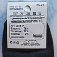 Короткие мужские хлопковые носки черные размер 40-43, фото 4