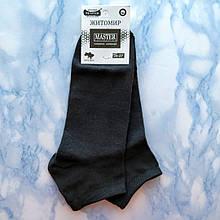 Короткие мужские хлопковые носки черные размер 41-45