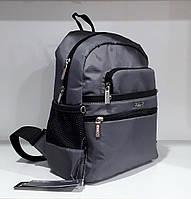 Рюкзак ультрамодный женский маленький серый тканевый городской Dolly 376 карман для планшета