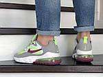 Мужские кроссовки Nike Air Max 270 React (серо-салатовые) 9144, фото 2