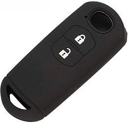 Чехол для автомобильного ключа Mazda 2 3 5 6 CX-3 (2 кнопки) - Black
