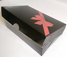 Коробка с  3D бантиком подарочная