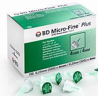 Иглы BD Micro-Fine+ «МикроФайн» 4 мм 100 шт.