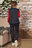 Стильный женский спортивный костюм тройка р.42,44,46, фото 4