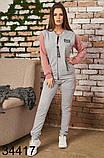 Стильный женский спортивный костюм тройка р.42,44,46, фото 5