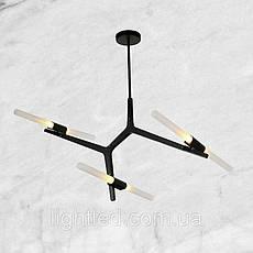 Чёрная люстра на 6 ламп, фото 3