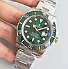 Мужские кварцевые наручные часы Rolex Submariner Silver-Green, фото 3
