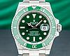 Мужские кварцевые наручные часы Rolex Submariner Silver-Green, фото 4