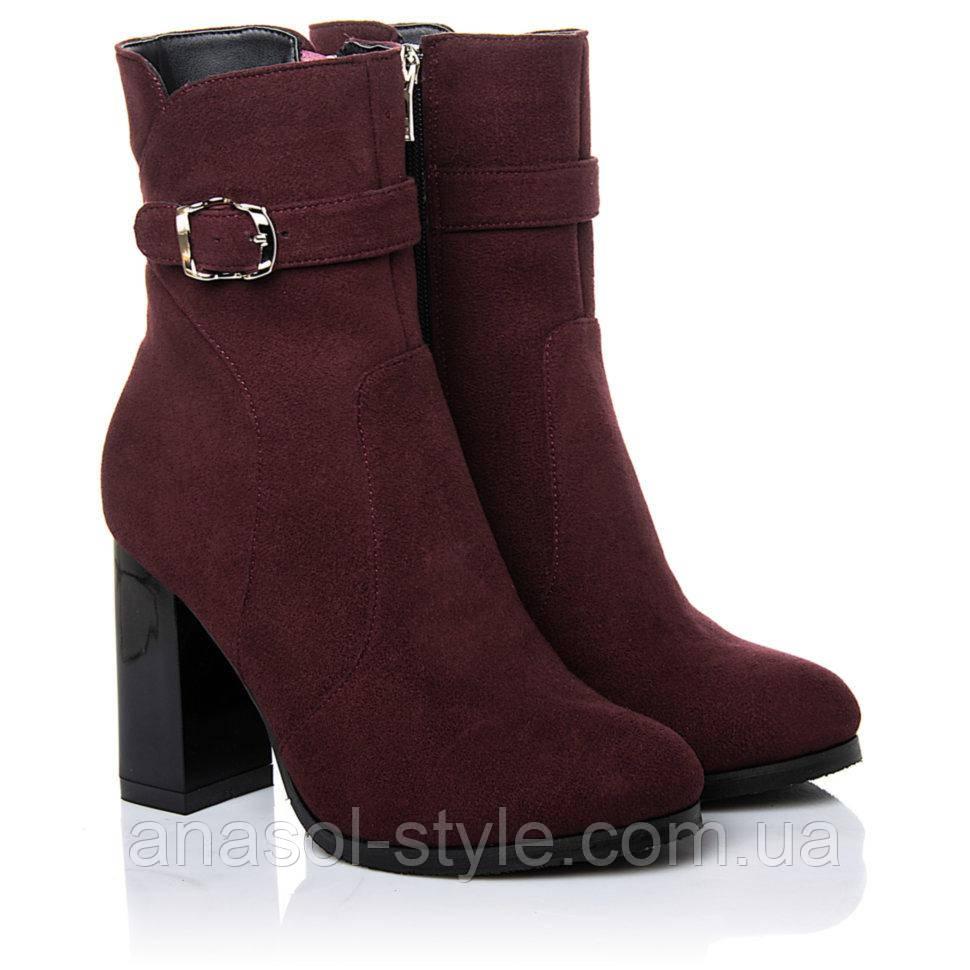 Ботинки La Rose 2260 36(24,2см) Бордовая замша