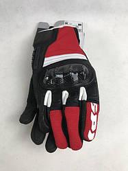 Кожаные мотоперчатки  TX-2 Black/Red C69 итальянской маркиSPIDI  размер L