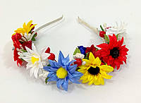 Обруч на голову з польовими квітами, фото 1