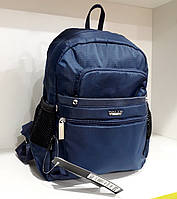 Рюкзак маленький ультрамодный женский синий текстильный Dolly 376 городской 24х30х15см