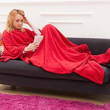 Одеяло-плед с рукавами Snuggle (Снагги) | теплый рукоплед | плед-халат 140х180 Красный, фото 2