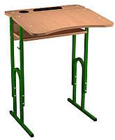 Стол ученический Одноместный, Регулируемый 4-6 рост, с площадкой