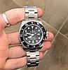 Мужские кварцевые наручные часы Rolex Submariner Silver-Black, фото 5