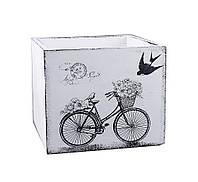 Кашпо велосипед прованс дерево 17*17 см D0002-1