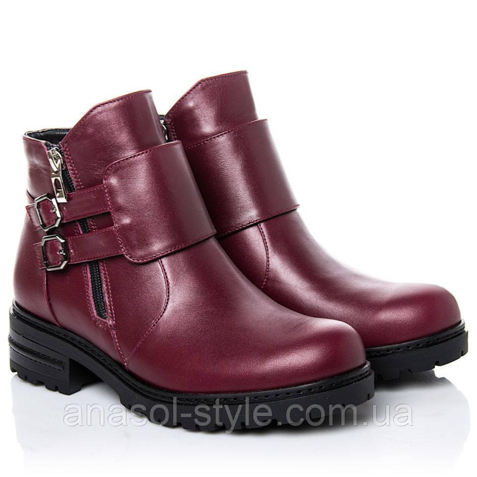 Ботинки La Rose 2264 36(24 см) Бордовая кожа