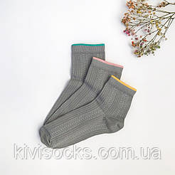 Женские носки V&T socks с плетением косичка