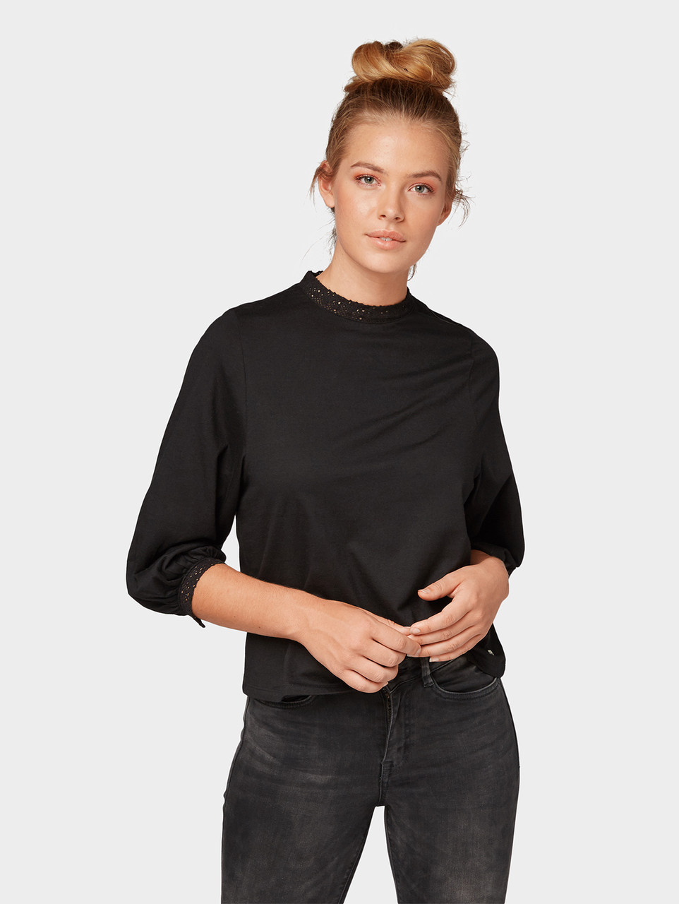 Блуза Tom Tailor 1006255 L Чорний