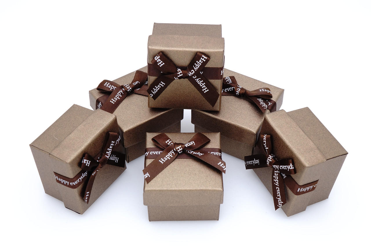 Коробка ювелирная box1-2 Коричневый