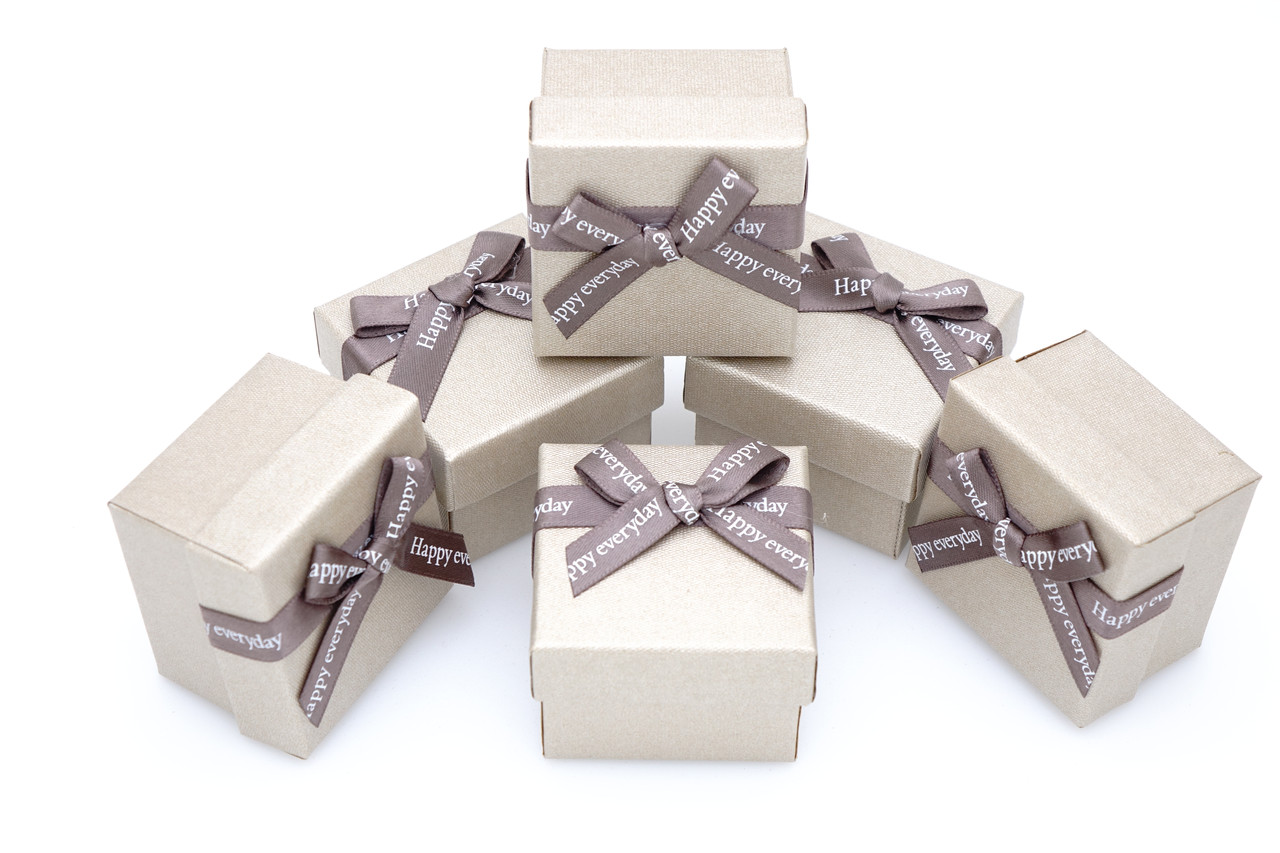 Коробка ювелирная box1-2 Бежевый