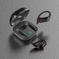 Беспроводные блютуз наушники для бега AirPlus Q62 вакууменые. Черный цвет.