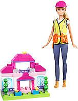 Кукла Барби Строитель и конструктор Mega Bloks Barbie Builder Mattel FCP76
